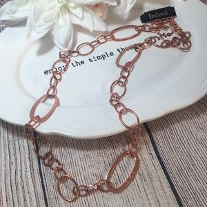 Rose Gold Color Long Chain Necklace